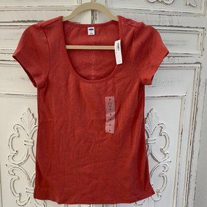 Slim-Fit Pointelle Scoop-Neck Tee - Size Small